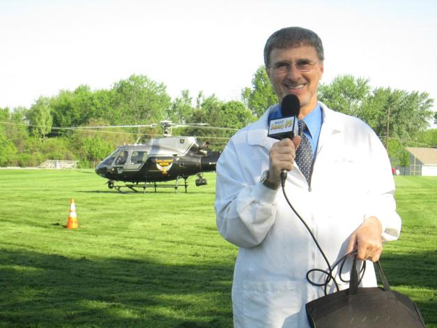 Preparing to interview the Ohio Highway Patrol helicopter pilot