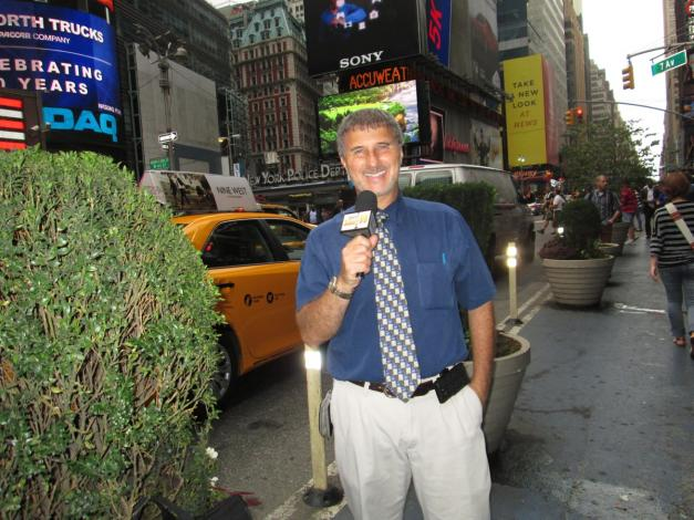 Reporting from Times Square