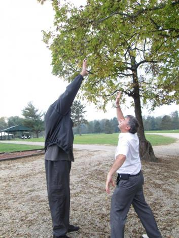 Trying to High Five 6 foot 11 inch Granville Waiters at a Charity Golf Event