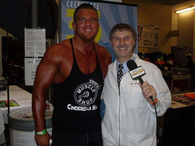 With a competitor at The Arnold event