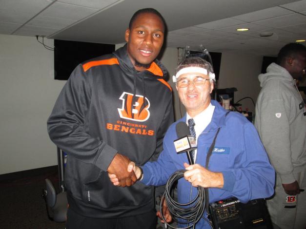 With Cincinnati Bengals #96 Carlos Dunlap