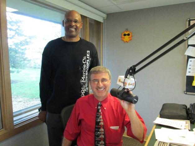 With Clark Kellogg, former OSU and NBA player